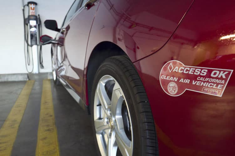 How to Get a Carpool Sticker for an Electric car in California