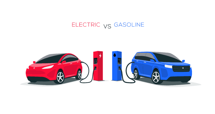 How an electric car works compared to a normal car